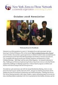 NYZTT Newsletter October 2016